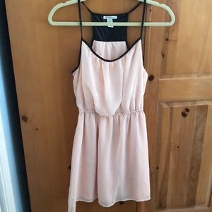Pink and pleather Charlotte Russe dress